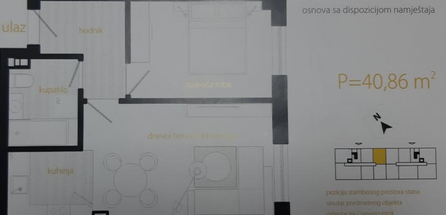 Dvosoban stan 40,86 m2 – Starčevica