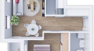 Dvosoban stan 42,71 m2 – Starčevica